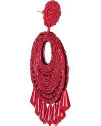 Kenneth Jay Lane | Pink Beaded Earrings | Lyst