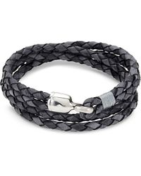 Miansai | Gray Trice Silver Clasp Bracelet - For Men | Lyst