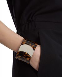Jaeger - Brown Tortoiseshell Rounded Cuff - Lyst