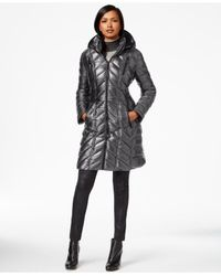 Calvin Klein | Gray Packable A-line Puffer Coat | Lyst