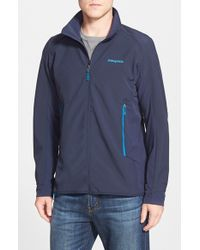 Patagonia | Blue 'adze' Windproof Hybrid Jacket for Men | Lyst