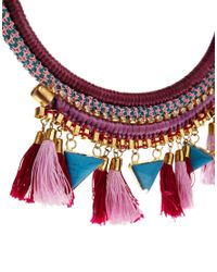 ASOS - Multicolor Triangle Tassel Necklace - Lyst