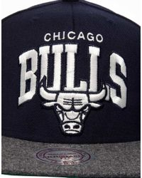 Mitchell & Ness - Blue Bulls Flannel Snapback Cap for Men - Lyst