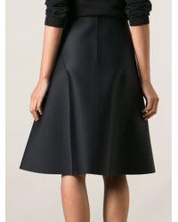 Acne Studios - Black Grid Scuba Skirt - Lyst
