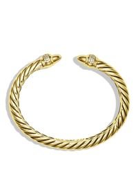 David Yurman | Yellow Waverly Bracelet With Diamonds In Gold | Lyst