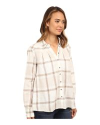 Free People | White Slubby Yarn Dyed Cotton Peppy In Plaid | Lyst