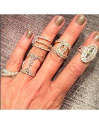 Anne Sisteron - Metallic 14kt Yellow Gold Baguette Diamond Era Ring - Lyst