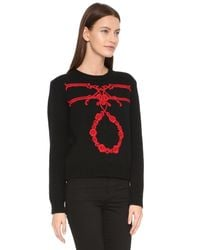 Karla Špetic - Orante Embroidered Pullover - Black/red - Lyst