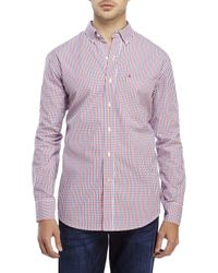 Izod | Red Button-Down Check Sport Shirt for Men | Lyst