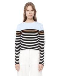 Alexander Wang - Blue Engineered Stripe Long Sleeve Tee - Lyst