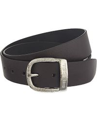 DIESEL | Brown Bawre Belt - For Men for Men | Lyst
