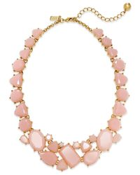 kate spade new york - Pink 12K Gold-Plated Color Pop All-Around Necklace - Lyst