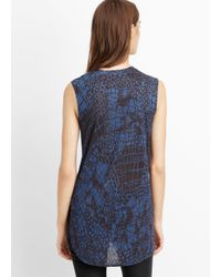Vince - Blue Graphic Croc Print Muscle Tee - Lyst