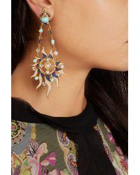 Percossi Papi - Metallic Gold-plated Multi-stone Earrings - Lyst