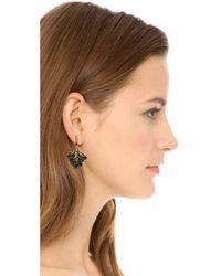 Oscar de la Renta - Green Cutout Dangle Earrings Emerald - Lyst