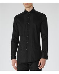 Reiss | Black Woods Slim-fit Dinner Shirt for Men | Lyst