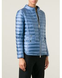 Moncler - Blue 'Aubrey' Padded Jacket - Lyst