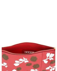 Marni | Red Floral Envelope Clutch | Lyst