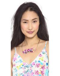Serefina - Purple Floral Necklace - Lyst