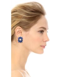 kate spade new york | Turn Heads Statement Studs - Blue Multi | Lyst