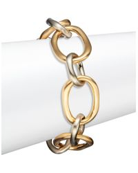 Karen Kane | Metallic Two-toned Link Bracelet | Lyst