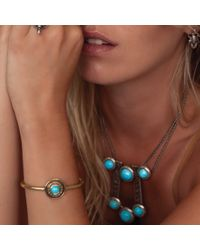 Pamela Love | Blue Solar Bracelet In Brass | Lyst