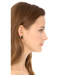 kate spade new york - Metallic Emerald Cut Stud Earrings - Tortoise - Lyst