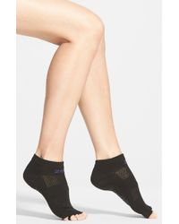 Zella - Gray 'studio' Toeless Yoga Socks - Lyst