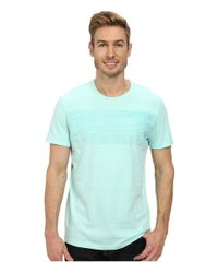 Calvin Klein | Blue Linear Grid Tee for Men | Lyst
