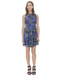 Rebecca Taylor Blue Flame Of The Forest Print Dress