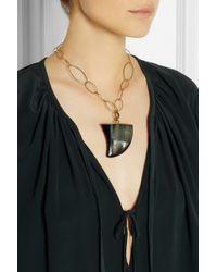 Isabel Marant | Metallic Goldtone Horn Necklace | Lyst
