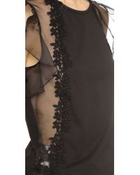 Giambattista Valli - Black Sleeveless Top - Lyst