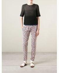 Vanessa Bruno Athé - Multicolor Printed Slim Trousers - Lyst
