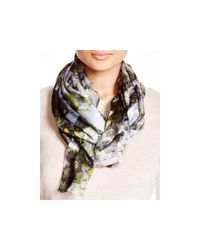 Echo - Black Painted Tubular Flower Scarf - Lyst