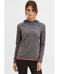 Forever 21 - Gray Active Longline Fleece Hoodie You've Been Added To The Waitlist - Lyst