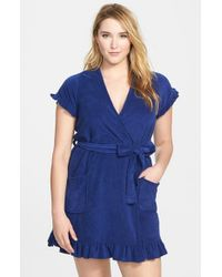 Betsey Johnson | Blue 'vintage' Terry Robe | Lyst