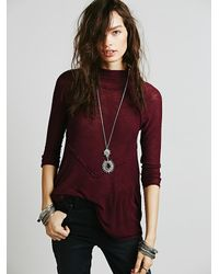 Free People - Purple Lucky Stretch-Cotton Tank Top - Lyst