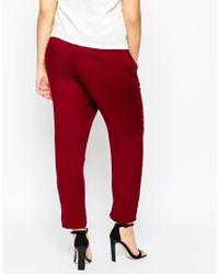 ASOS - Purple Curve Woven Peg Trouser - Lyst