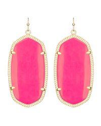 Kendra Scott | Pink Danielle Earrings | Lyst