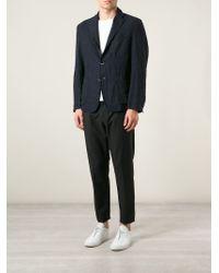 Barena - Blue ' Savio' Check Blazer for Men - Lyst