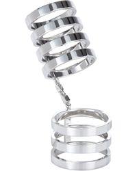 Repossi - Metallic White Gold Sevenband Berbère Cage Ring - Lyst