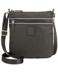 Tommy Hilfiger | Black Active Nylon Flat Small Crossbody | Lyst