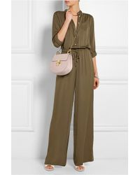 MICHAEL Michael Kors - Natural Silk-Crepe Wide-Leg Jumpsuit - Lyst