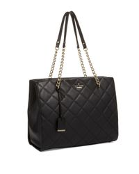 Kate Spade | Black Phoebe Quilted Leather Bag | Lyst