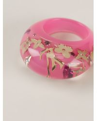 Louis Vuitton - Pink Resin Ring - Lyst