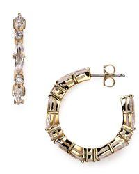 Nadri - Metallic Medium Hoop Earrings - Lyst