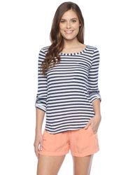 Splendid | Blue Monterosso Stripe Top | Lyst