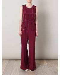 3.1 Phillip Lim | Purple Embellished Silk-crepe Jumpsuit | Lyst
