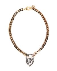 Lulu Frost | Metallic Blackheart Necklace | Lyst