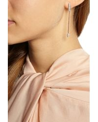Monica Vinader | Pink Fiji Rose Goldplated Diamond Earrings | Lyst